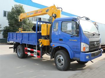 福田(国四6.3吨)单桥随车起重运输车